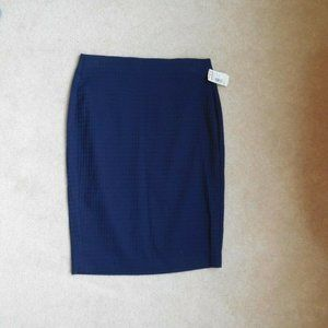 Elle Textured Square Pull On Pencil Skirt X Small